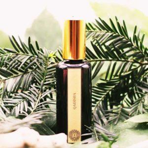 Qadisha - Parfum Naturel Cèdre, Encens, Myrrhe, Baies de Rose, Agrumes...